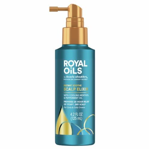 Head & Shoulders Royal Oils Instant Soothe Scalp Elixir Menthol & Peppermint Oil Treatment Perspective: front
