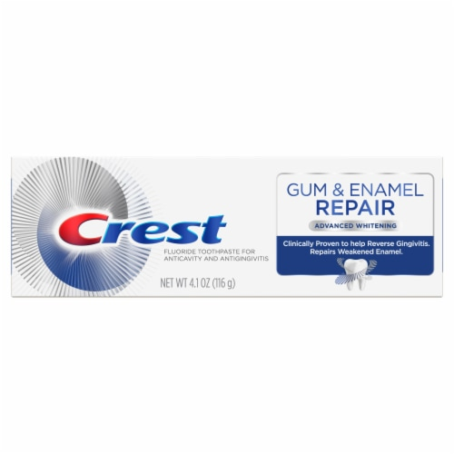 Crest Gum & Enamel Repair Advanced Whitening Toothpaste Perspective: front