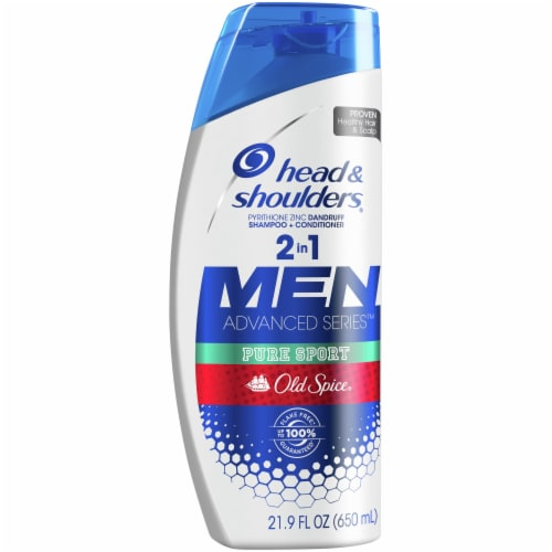Head & Shoulders Old Spice Pure Sport Dandruff 2-in-1 Shampoo and Conditioner Perspective: front