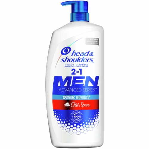 Head & Shoulders Men Advanced Series Old Spice Pure Sport Dandruff 2-In-1 Shampoo + Conditioner Perspective: front