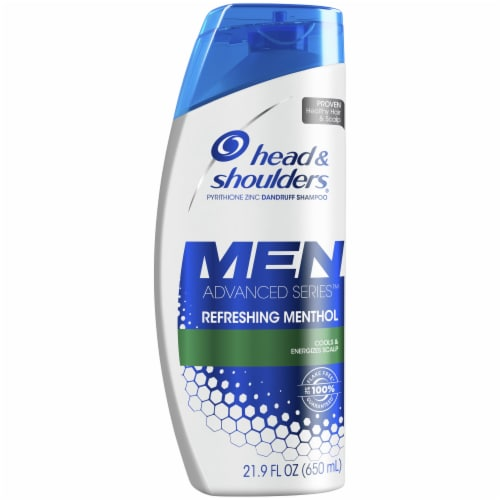 Head & Shoulders Men Advanced Series Refreshing Menthol Anti-Dandruff Shampoo Perspective: front