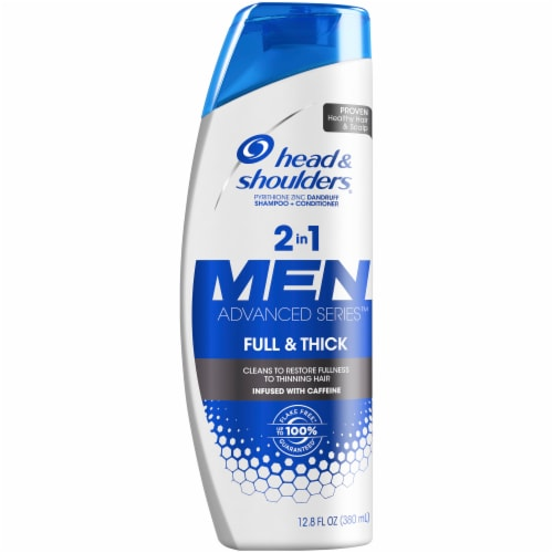 Head and Shoulders Full and Thick Anti-Dandruff 2 in 1 Shampoo and Conditioner Perspective: front
