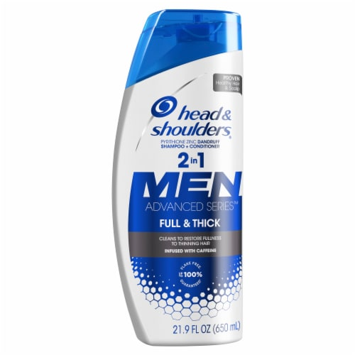Head & Shoulders Full and Thick Anti-Dandruff 2-in-1 Shampoo + Conditioner Perspective: front