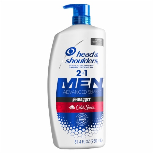 Head and Shoulders Old Spice Swagger Dandruff 2 in 1 Shampoo and Conditioner Perspective: front