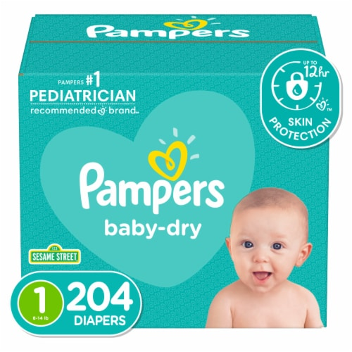 Pampers Baby-Dry Size 1 Diapers Perspective: front