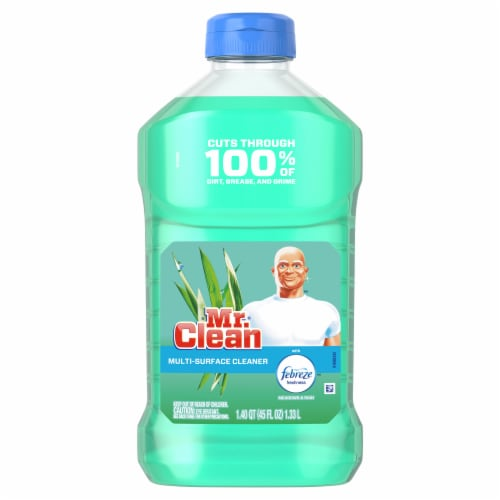 Mr. Clean with Febreze Meadows & Rain Multi Surface Cleaner Perspective: front
