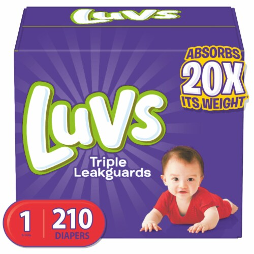 Luvs Triple Leakguards Size 1 Diapers Perspective: front