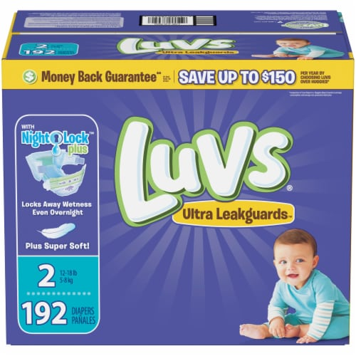 Luvs Triple Leakguards Size 2 Diapers Perspective: front
