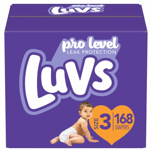 Luvs Triple Leakguards Size 3 Diapers Perspective: front