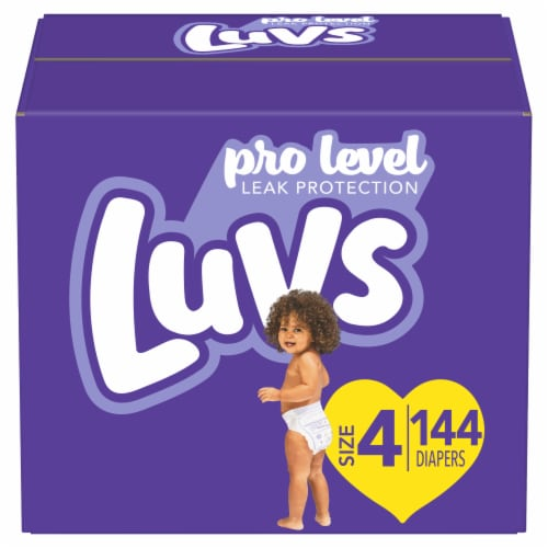 Luvs Triple Leakguards Size 4 Diapers Perspective: front