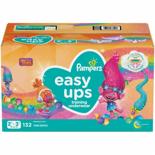 Pampers Easy Ups Size 2T-3T Training Pants Perspective: front