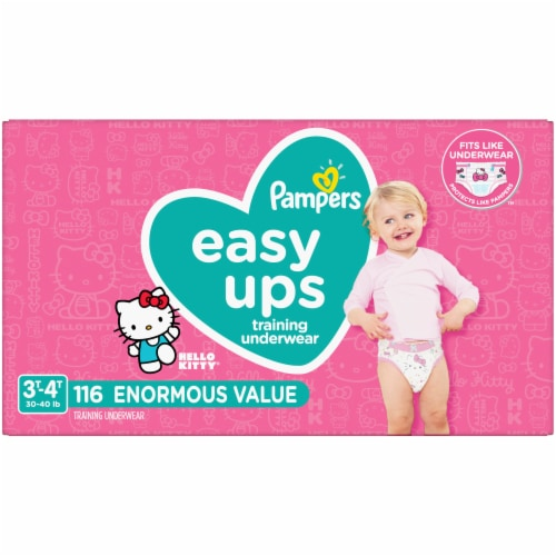 Pampers Easy Ups Size 3T-4T Training Pants Perspective: front