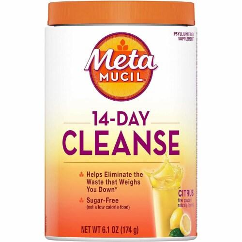 Metamucil 14-Day Cleanse Citrus Flavor Fiber Powder Perspective: front