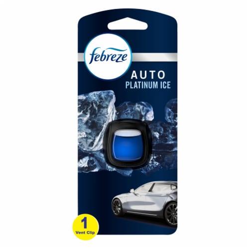 Febreze Auto Platinum Ice Air Freshener Car Vent Clip Perspective: front