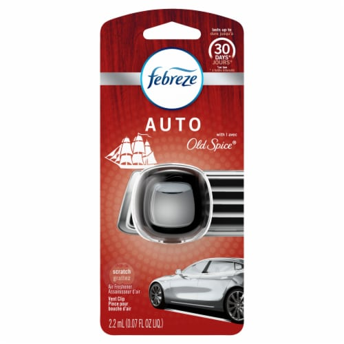 Febreze Auto Old Spice Air Freshener Vent Clip Perspective: front