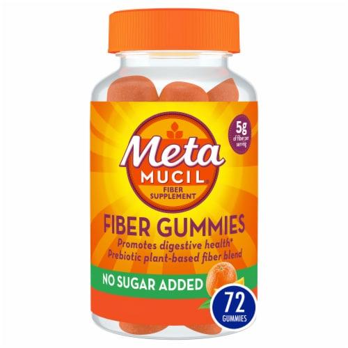 Metamucil Orange Flavor Fiber Gummies Perspective: front