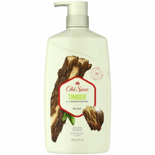 Old Spice Men Timber with Sandalwood Body Wash Perspective: front