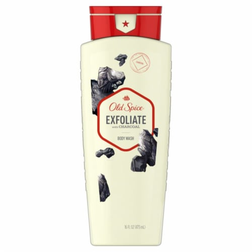 Old Spice Men Body Wash Fresher Collection Exfoliate with Charcoal Perspective: front