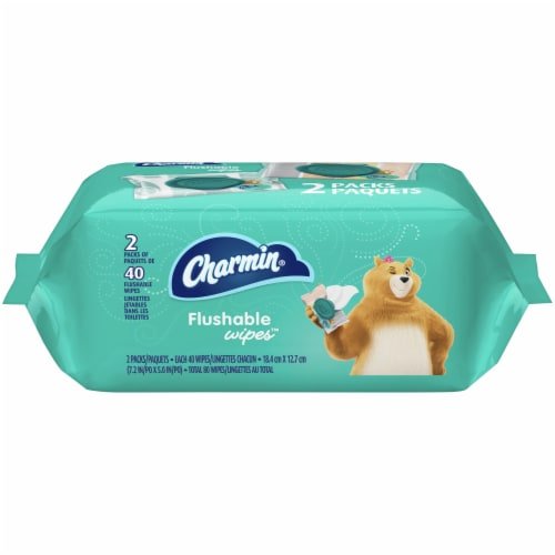 Charmin Flushable Wipes Perspective: front