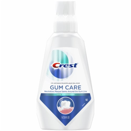 Crest Gum Care Mouthwash Cool Wintergreen Perspective: front