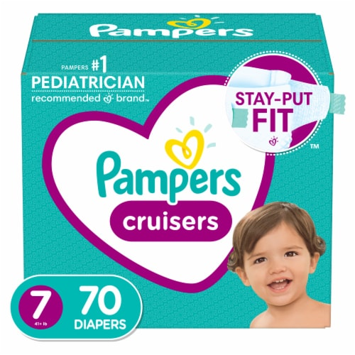 Pampers Cruisers Size 7 Diapers Perspective: front