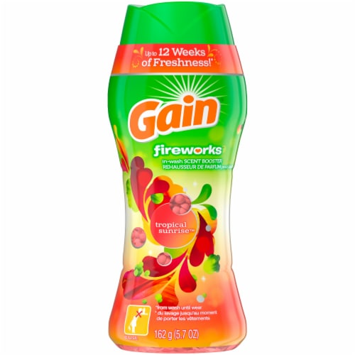 Gain Fireworks Tropical Sunrise In-Wash Scent Booster Beads Perspective: front