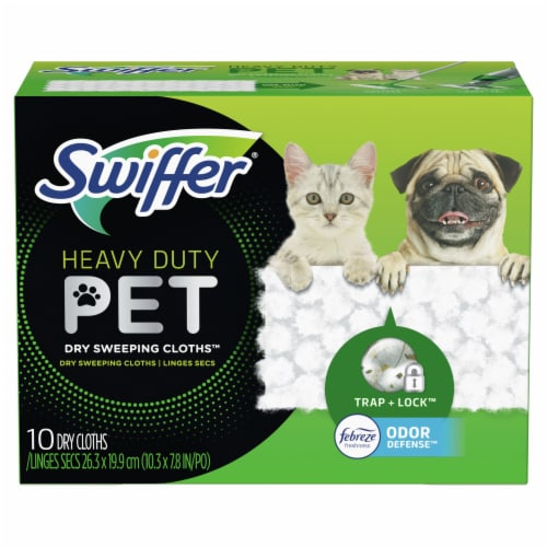 Swiffer® Heavy Duty Pet Febreze Freshness Dry Sweeping Cloth Refills Perspective: front