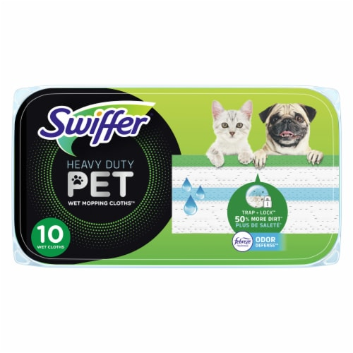 Swiffer® Heavy Duty Pet with Febreze Odor Defense Wet Mopping Cloth Refills Perspective: front