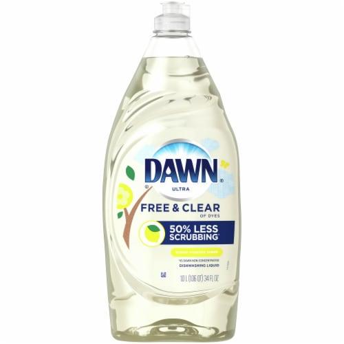 Dawn Ultra Pure Essentials Lemon Essence Scent Dishwashing Liquid Perspective: front