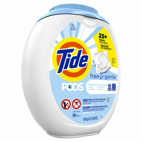 Tide Pods Free & Gentle Liquid Laundry Detergent Pacs Perspective: front