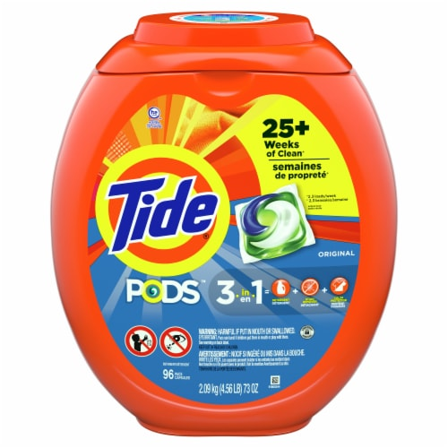 Tide Pods Original 3 in 1 Laundry Detergent Pacs Perspective: front