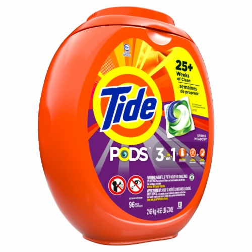 Tide Pods Spring Meadow Laundry Detergent Pacs Perspective: front