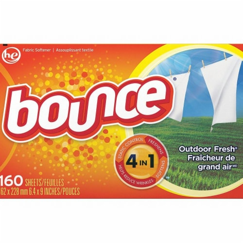 Bounce Outdoor Fresh Fabric Softener Dryer Sheets Perspective: front