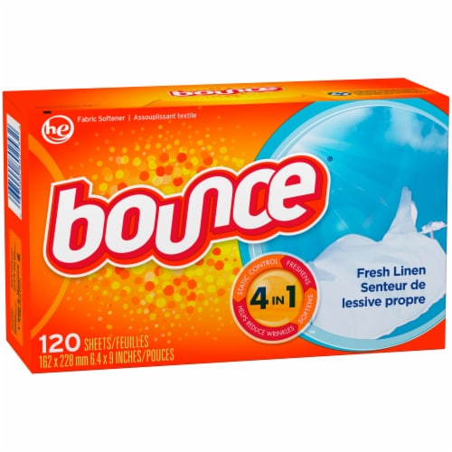 Bounce Fresh Linen Scent 4 in 1 Dryer Sheets Perspective: front