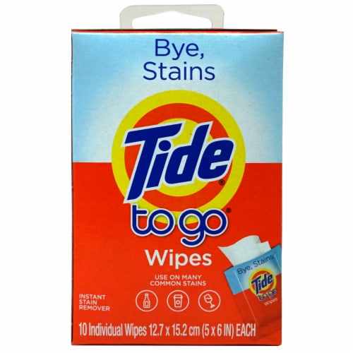 Tide To Go Instant Stain Remover Wipes Perspective: front