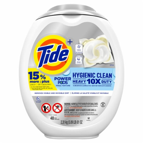 Tide® Power Pods Hygienic Clean Scent Free Laundry Detergent Pacs Perspective: front