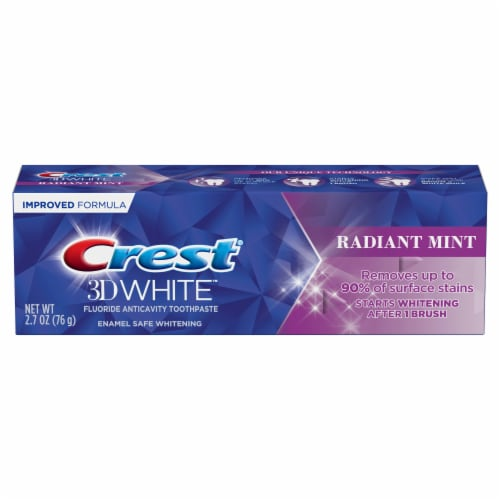 Crest® 3D White™ Radiant Mint Whitening Toothpaste Perspective: front