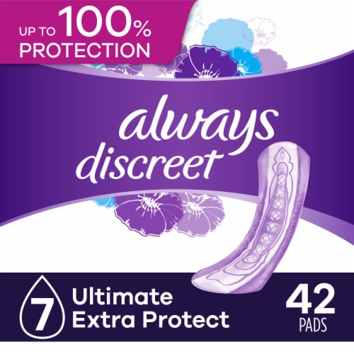 Always Discreet Ultimate Extra Protect Incontinence Pads Perspective: front