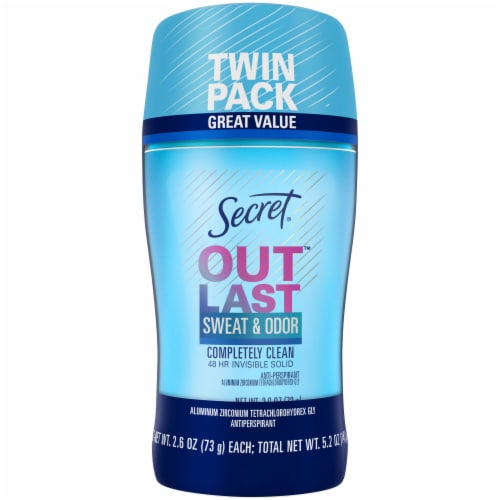 Secret Outlast Completely Clean Antiperspirant/Deodorant Perspective: front