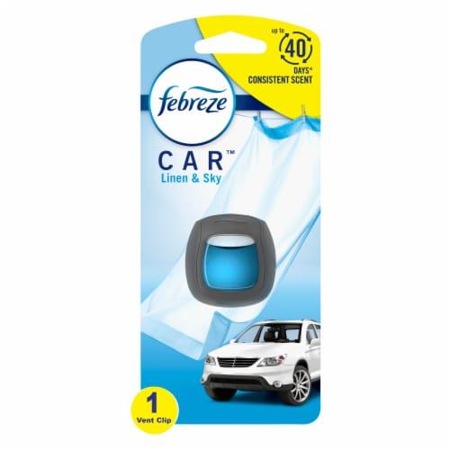 Febreze CAR Linen and Sky Air Freshener Vent Clip Perspective: front