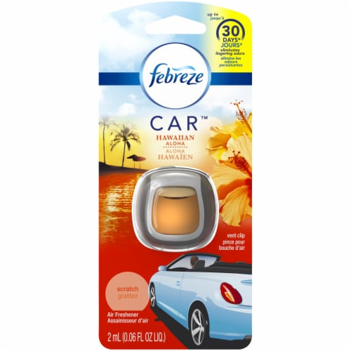 Febreze CAR Hawaiian Aloha Air Freshener Vent Clip Perspective: front