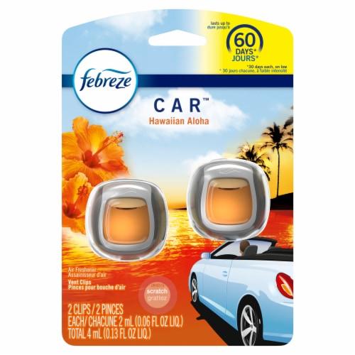Febreze Car Odor-Eliminating Hawaiian Aloha Air Freshener Vent Clips Perspective: front