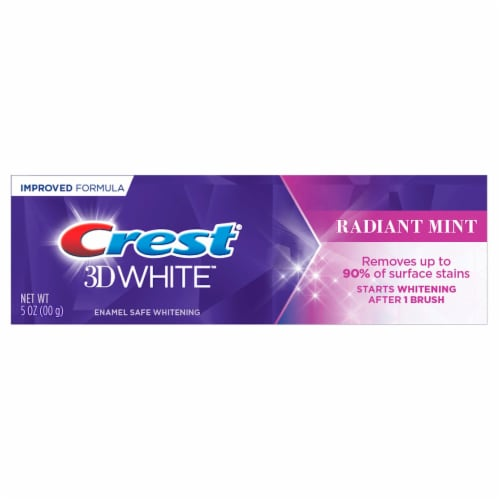 Crest 3D White Radiant Mint Toothpaste Perspective: front