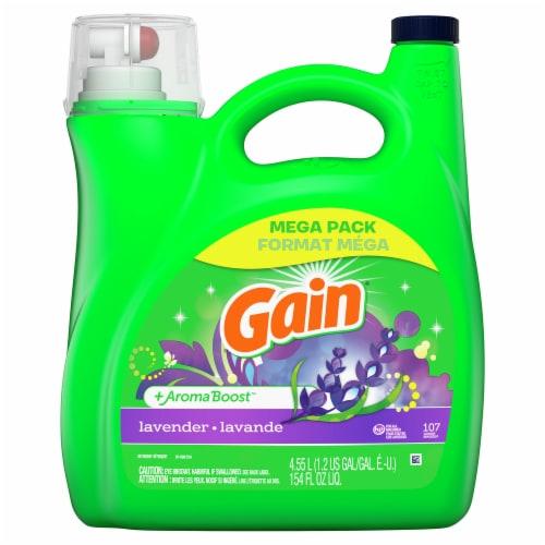 Gain® Lavender Liquid Laundry Detergent Perspective: front