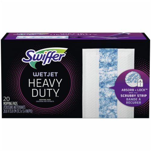 Swiffer WetJet Heavy Duty Mopping Pad Refills Perspective: front