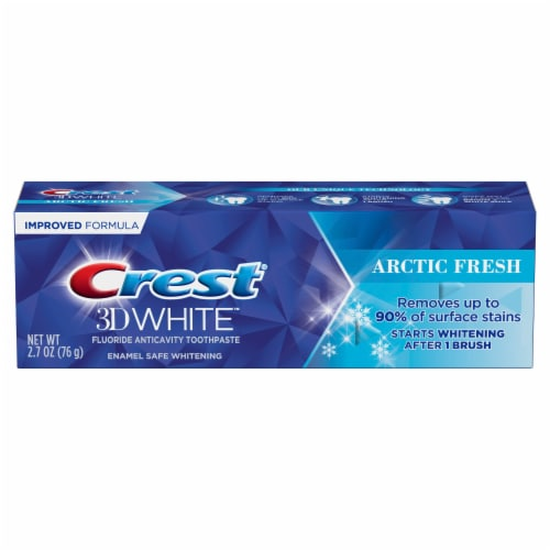 Crest® 3D White™ Arctic Fresh Whitening Toothpaste Perspective: front