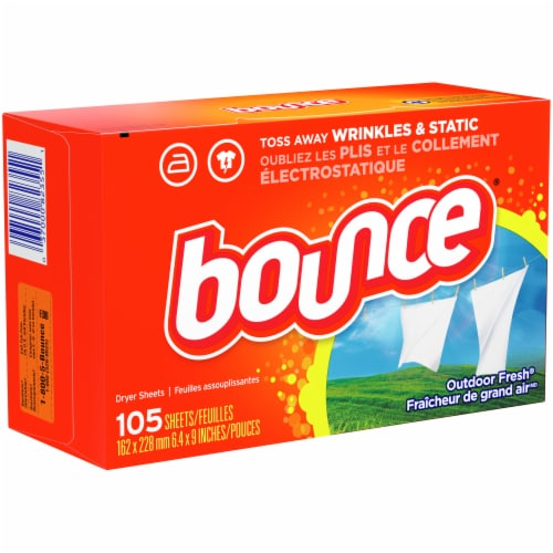 Bounce Outdoor Fresh Dryer Sheets Perspective: front
