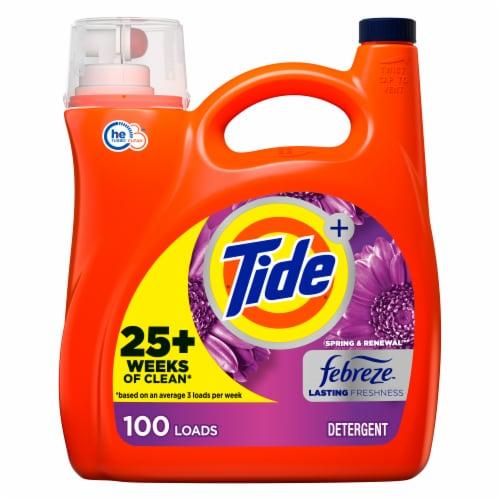 Tide + Febreeze Freshness Spring & Renewal Liquid Laundry Detergent Perspective: front