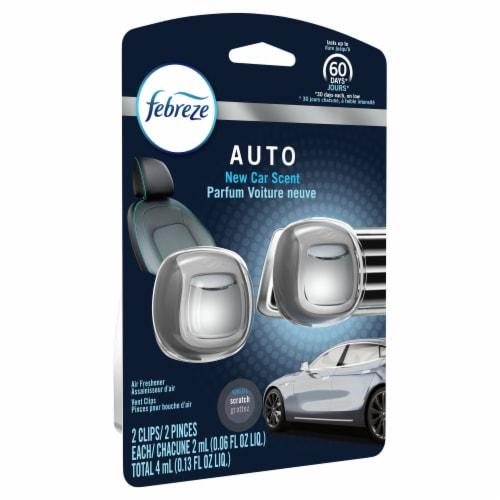 Febreze Auto New Car Scent Air Freshener Car Vent Clip Perspective: front