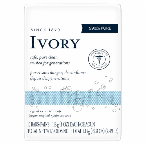 Ivory Original Scent Bar Soap Perspective: front